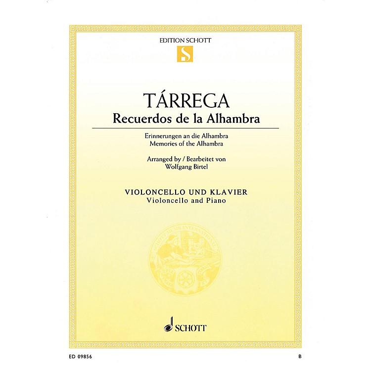SchottRecuerdos de la Alhambra (Memories of the Alhambra) String Series Softcover Composed by Francisco Tárrega