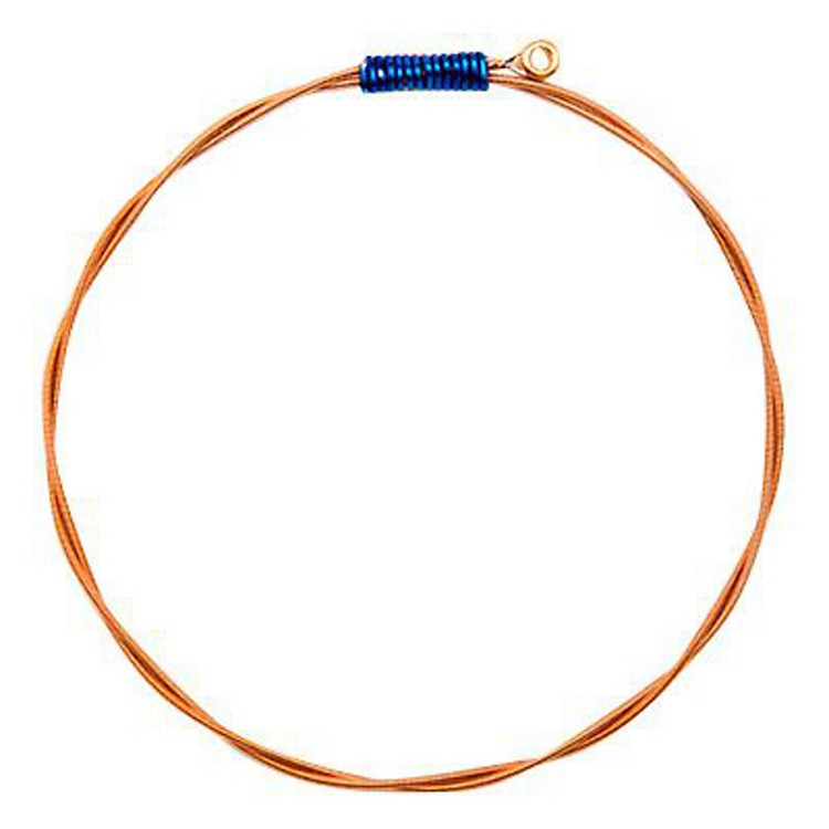 Wear Your Music Recycled Guitar String Bracelet Adult Medium/Large Royal Blue