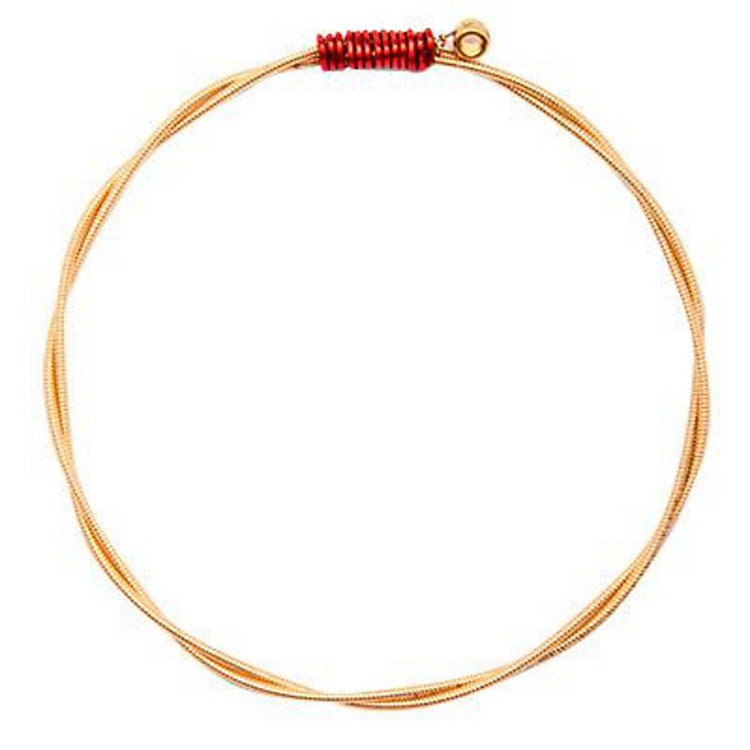 Wear Your MusicRecycled Guitar String BraceletAdult Small/MediumRed