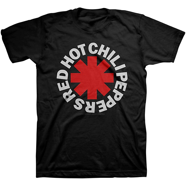 Bravado Red Hot Chili Peppers Asterisk Mens T-Shirt Black Large