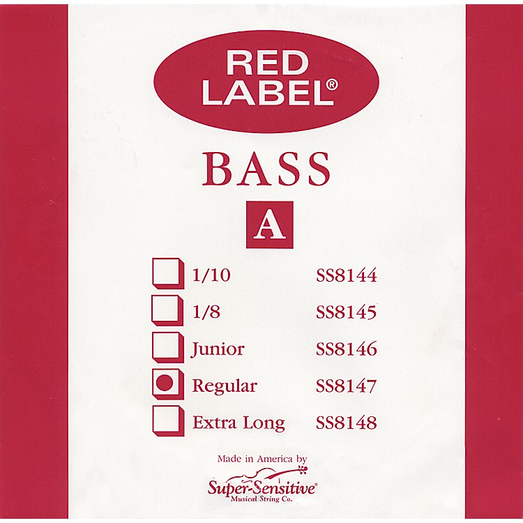 Super Sensitive Red Label 3/4 Size Double Bass Strings 3/4 A String