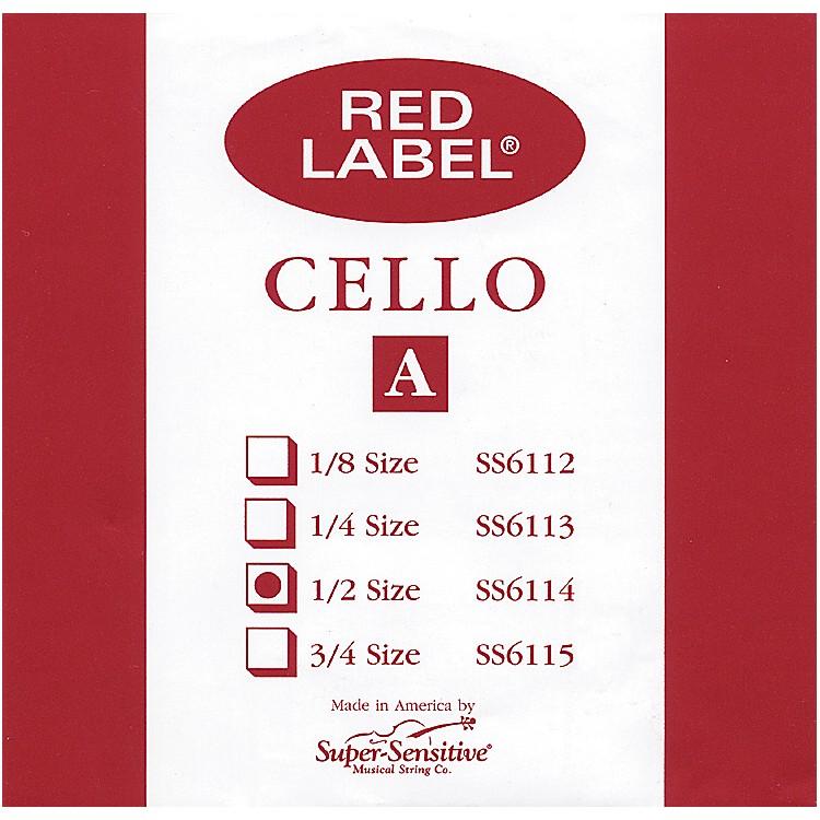 Super SensitiveRed Label Cello A String1/2