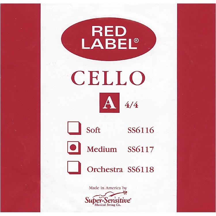 Super SensitiveRed Label Cello A String