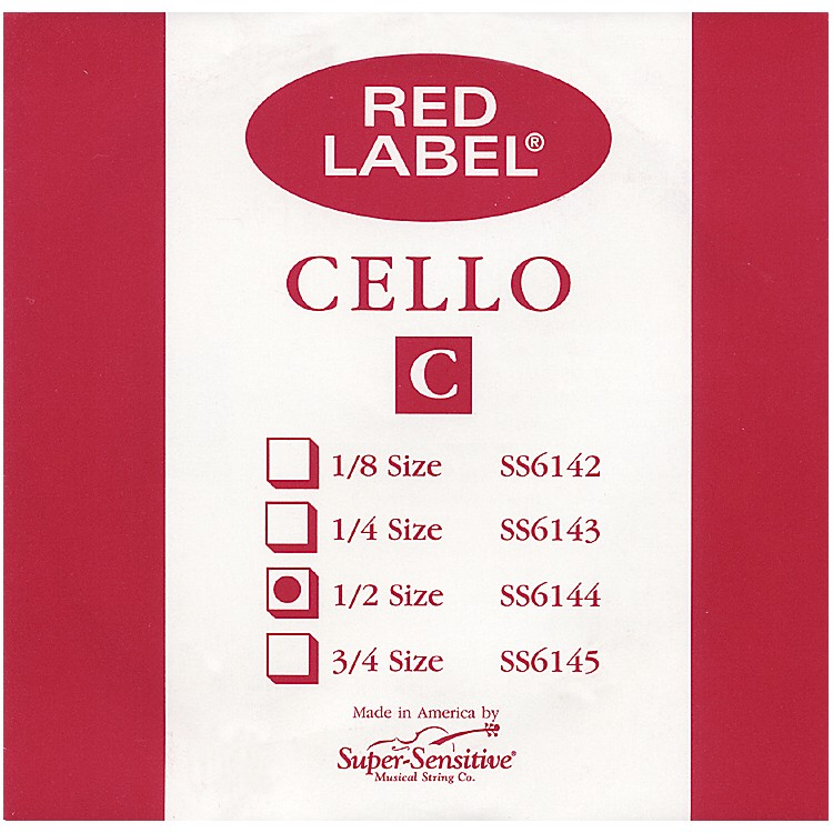 Super Sensitive Red Label Cello C String  4/4