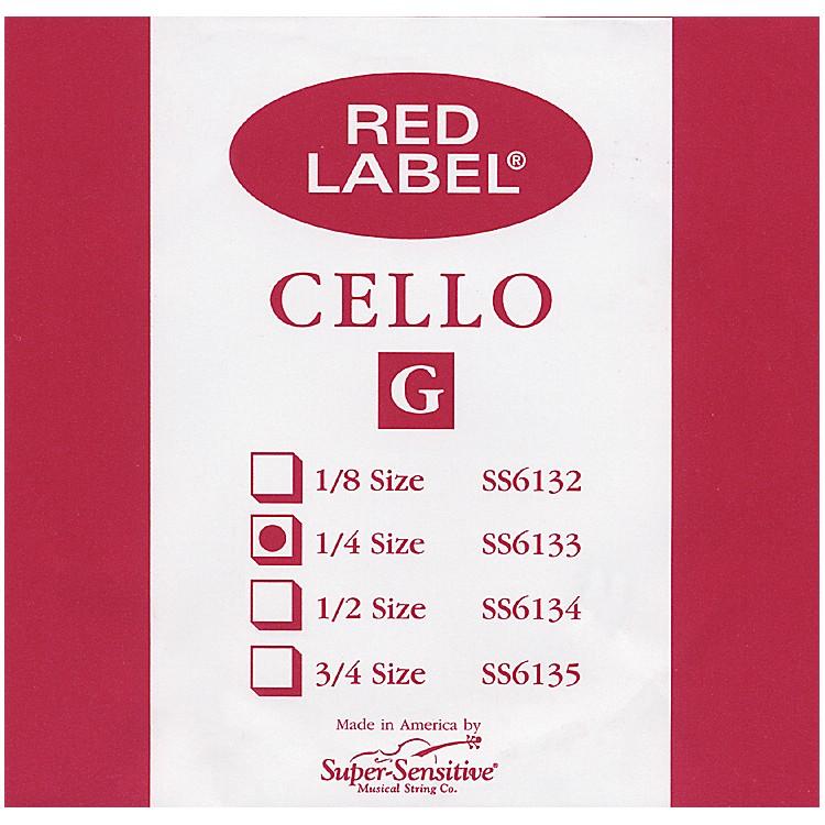 Super SensitiveRed Label Cello G String1/4