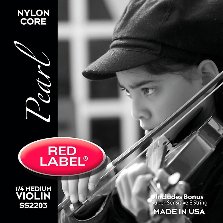 Super SensitiveRed Label Pearl Nylon Core Violin String Set
