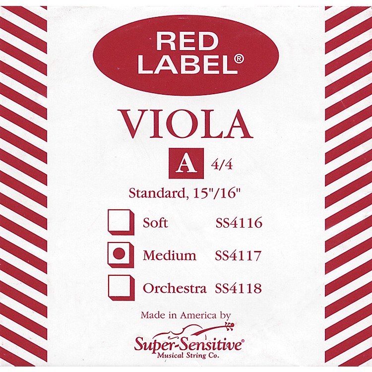 Super Sensitive Red Label Viola A String