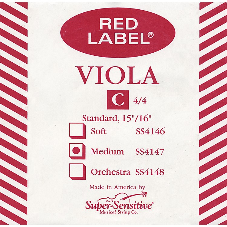 Super Sensitive Red Label Viola C String Mini (12-in.)