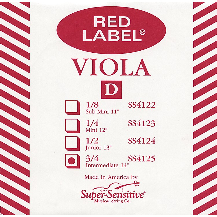 Super Sensitive Red Label Viola D String  Intermediate