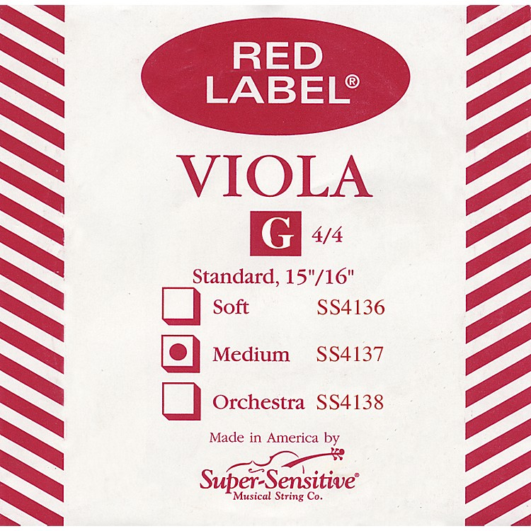 Super Sensitive Red Label Viola G String  Full