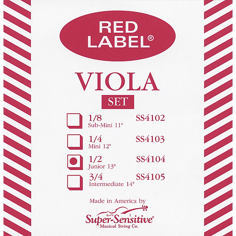 Super Sensitive Red Label Viola String Set  Intermediate