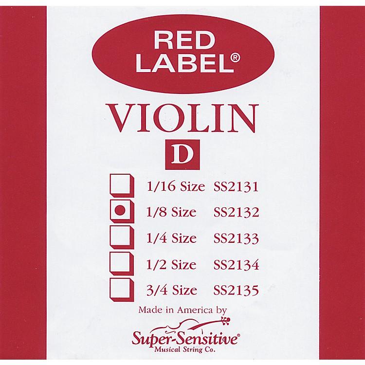 Super SensitiveRed Label Violin D String1/8