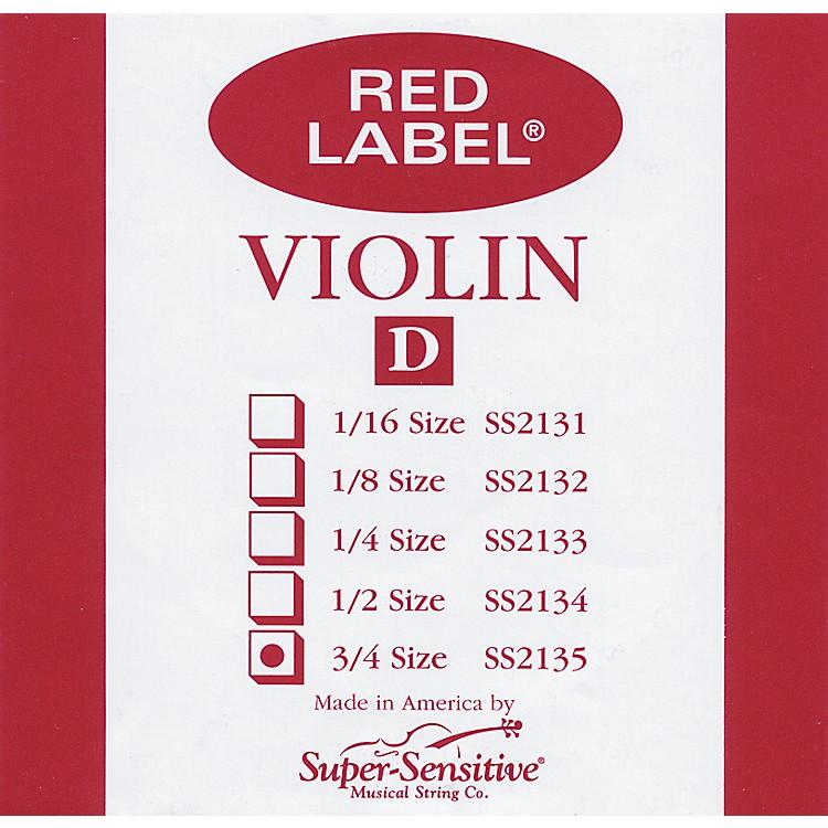 Super SensitiveRed Label Violin D String3/4