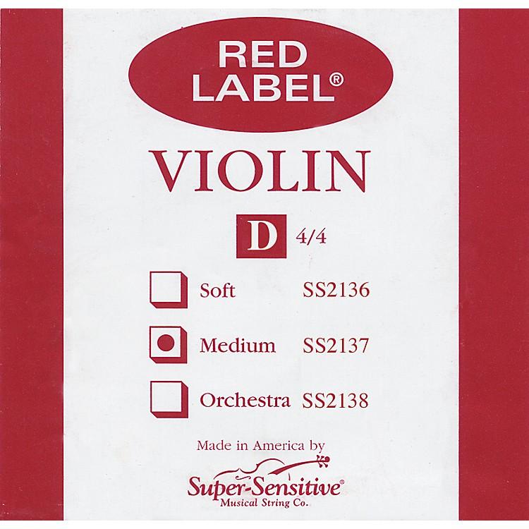 Super SensitiveRed Label Violin D String4/4