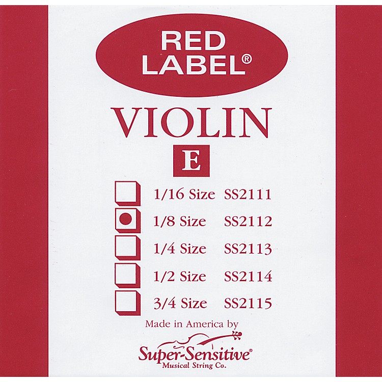 Super Sensitive Red Label Violin E String  1/4