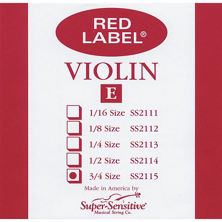 Super SensitiveRed Label Violin E String3/4