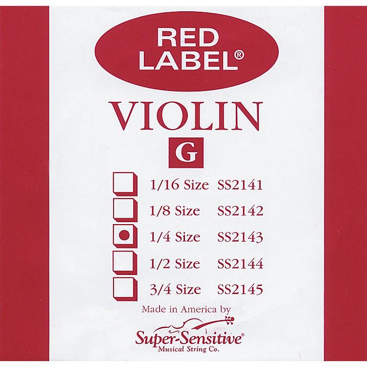Super SensitiveRed Label Violin G String1/4