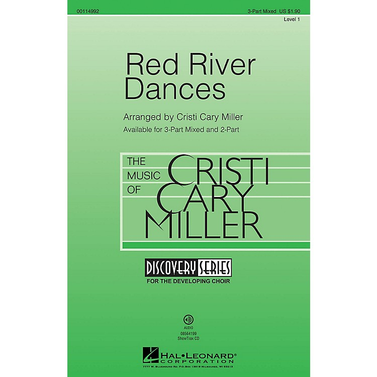 Hal LeonardRed River Dances (Discovery Level 1) 3-Part Mixed arranged by Cristi Cary Miller