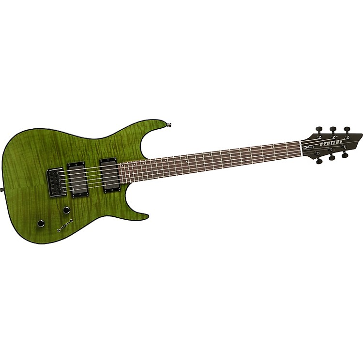 Godin Redline II Electric Guitar Transparent Green Flame Rosewood Fretboard
