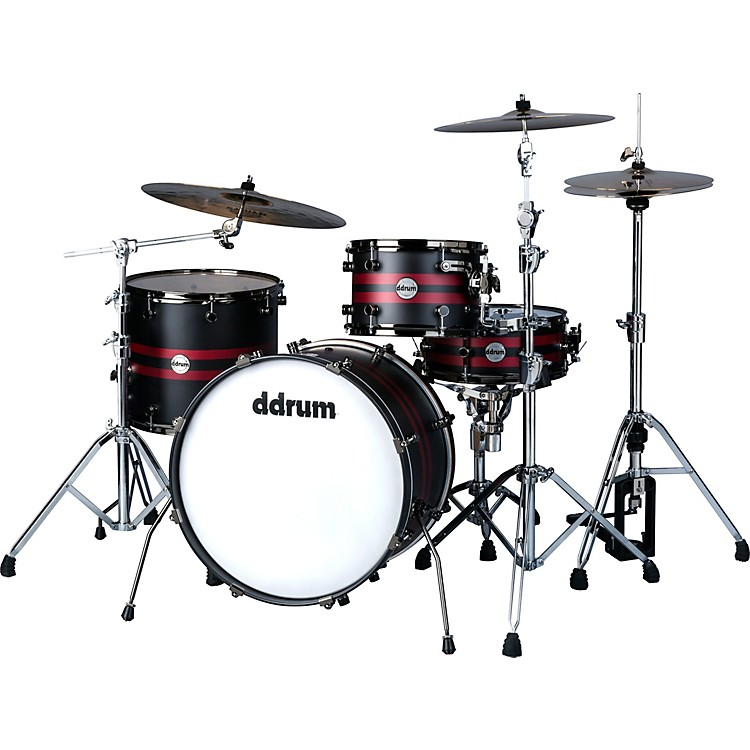 Ddrum Reflex Rally Sport 422 Exclusive 4-Piece Shell Pack Red/Black