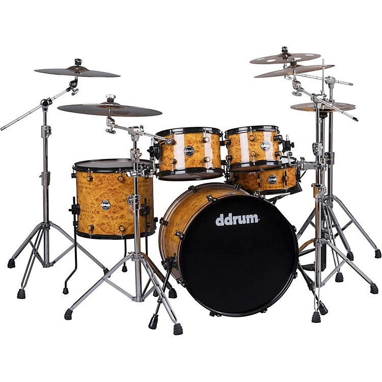 Ddrum Reflex Series 5-Piece Shell Pack Mappa Burl