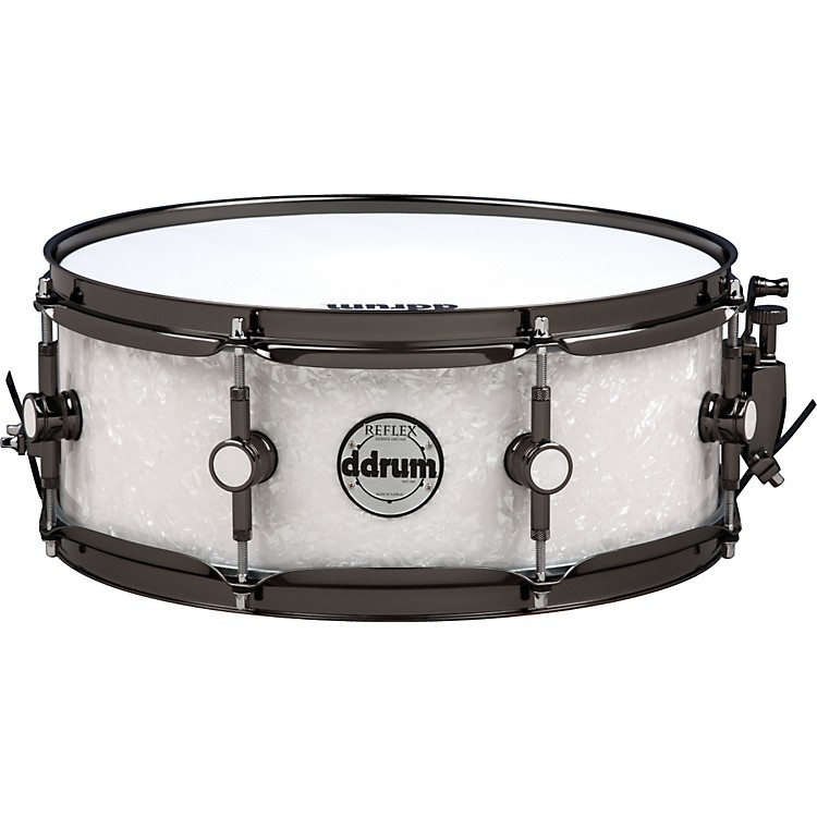 Ddrum Reflex Series Snare Drum 14 x 5.5 White Marine Pearl with Black Nickel Hardware