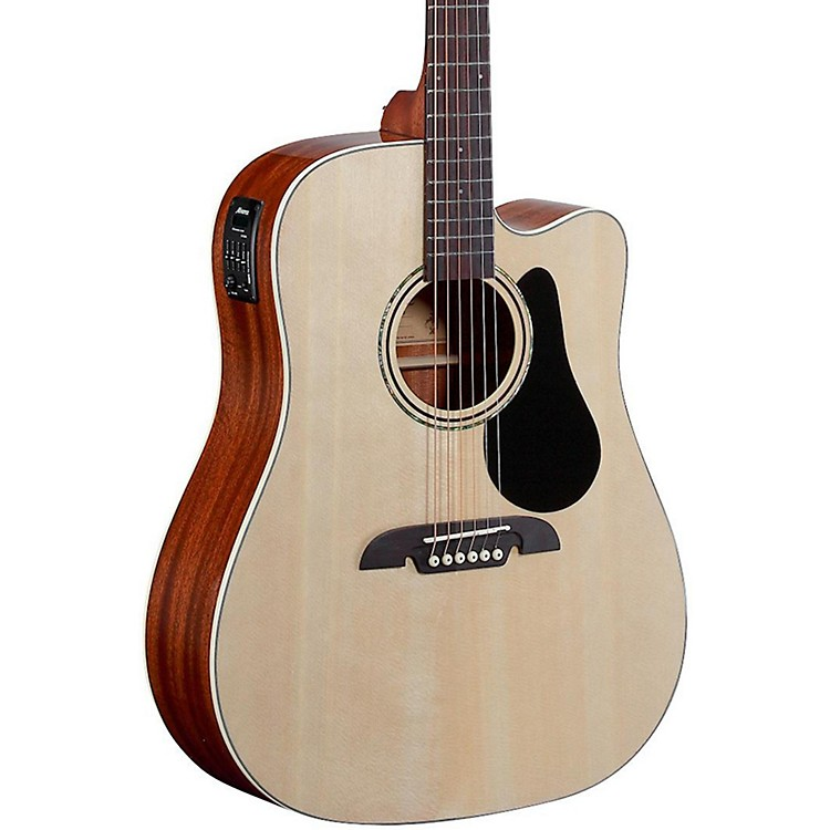 Alvarez Regent Series Dreadnought Cutaway Acoustic-Electric Guitar Natural