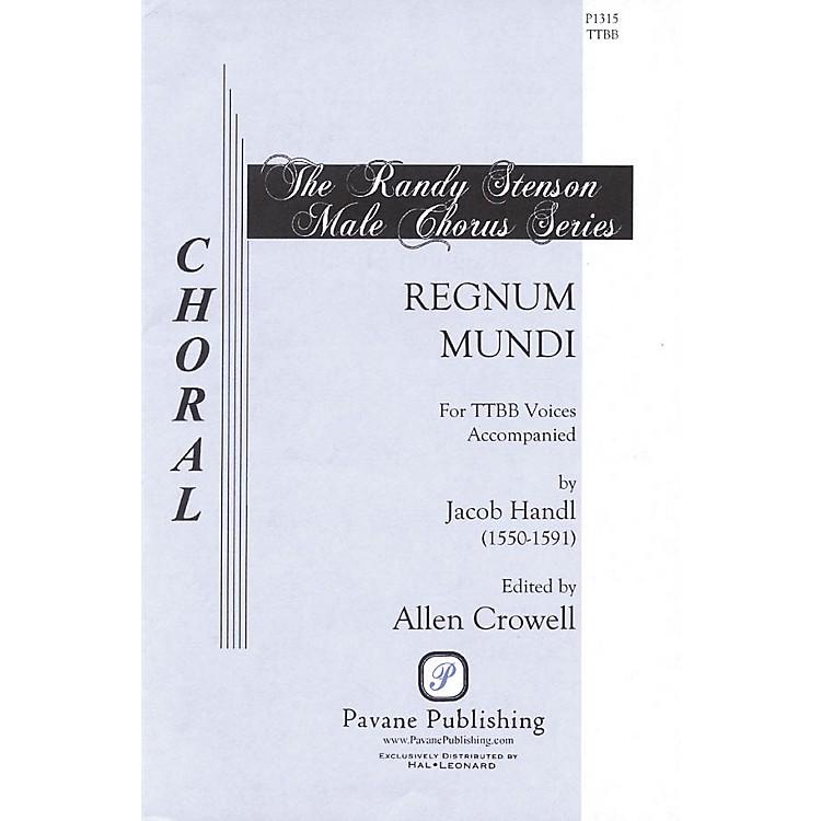 PavaneRegnum Mundi TTBB A Cappella composed by Jacob Handl