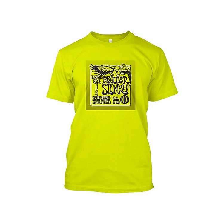 Ernie Ball Regular Slinky T-Shirt Neon Yellow Medium