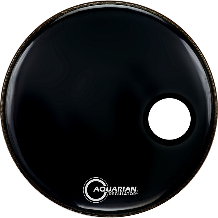 Aquarian Regulator Black Resonant Kick Drumhead Black 24 in.