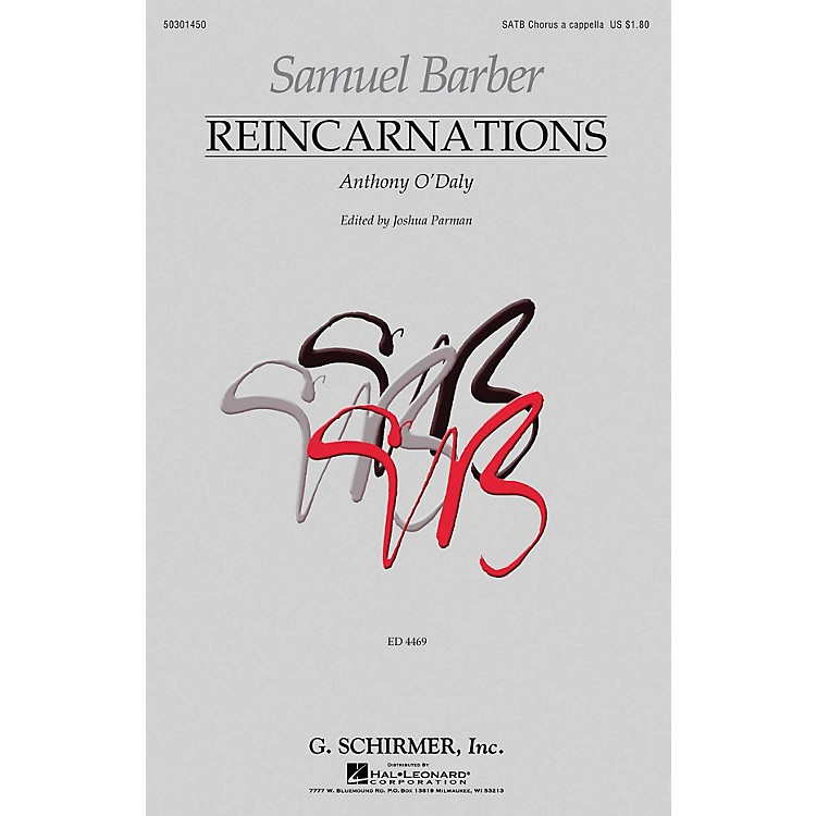 G. SchirmerReincarnations - No. 2: Anthony O'Daly SATB a cappella by Samuel Barber edited by Joshua Parman
