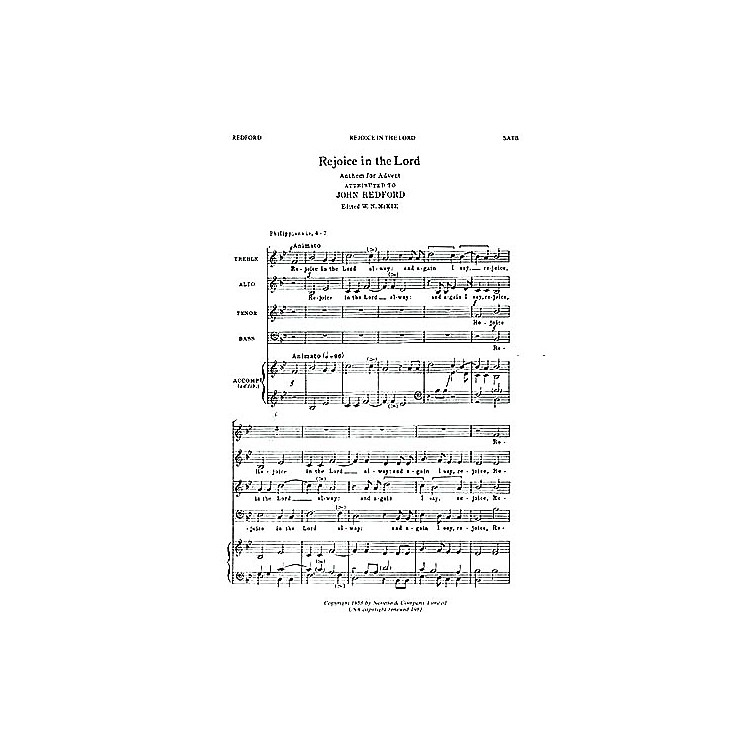NovelloRejoice in the Lord Alway SATB