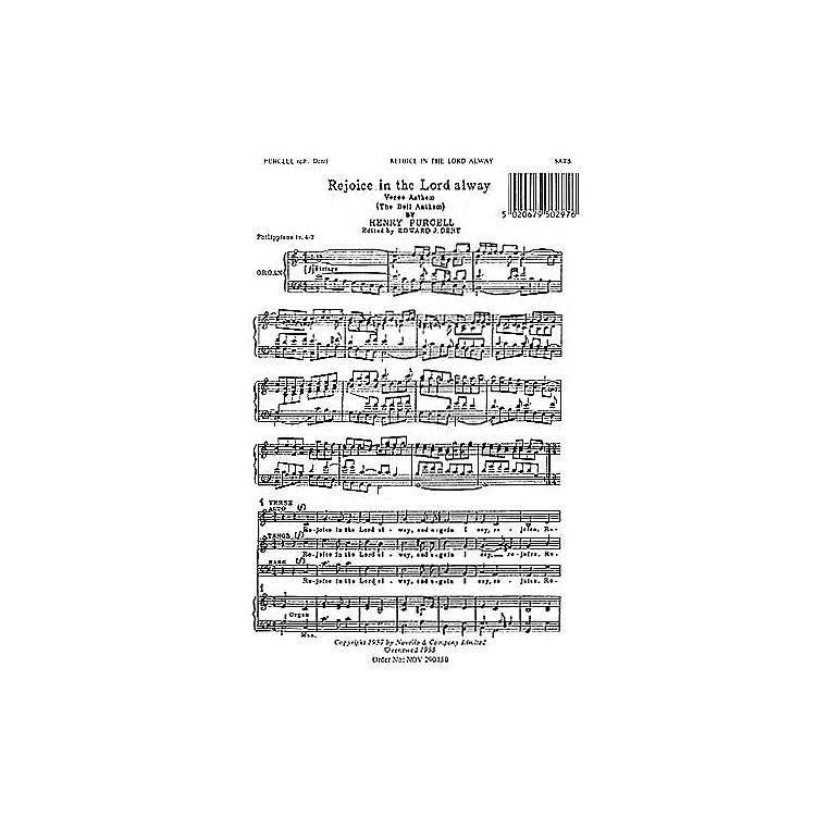 Novello Rejoice in the Lord Alway (The Bell Anthem) SATB Composed by Henry Purcell