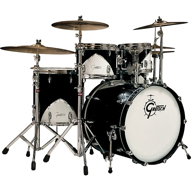 Gretsch DrumsRenown 57 5-Piece Shell Pack with ThroneMotor City Onyx
