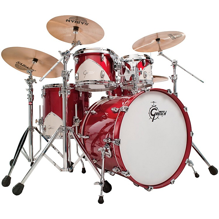 Gretsch DrumsRenown 57 5-Piece Shell Pack with ThroneMotor City Red