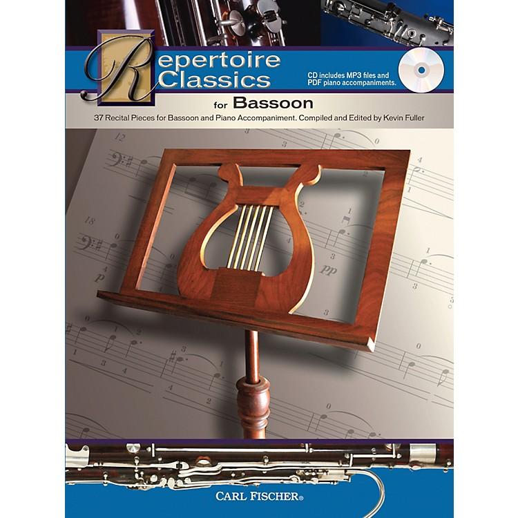 Carl FischerRepertoire Classics for Bassoon (Bassoon & Piano Accompaniment) Book/CD