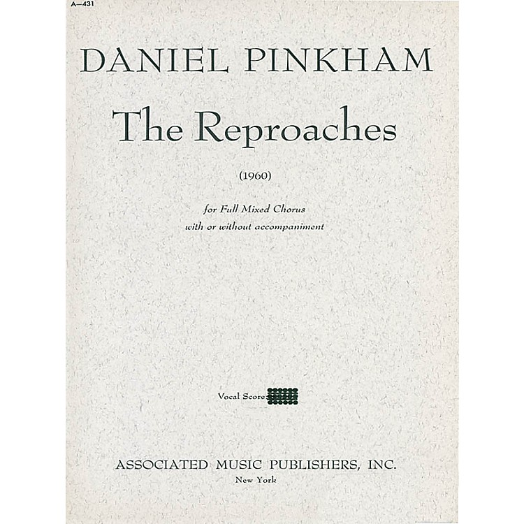 AssociatedReproaches (1960) (SATB) SATB composed by Daniel Pinkham
