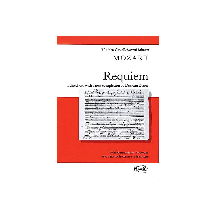 Novello Requiem K.626 Vocal Score Composed by Wolfgang Amadeus Mozart