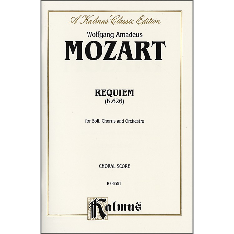 AlfredRequiem Mass K. 626 SATB with SATB Soli Choir