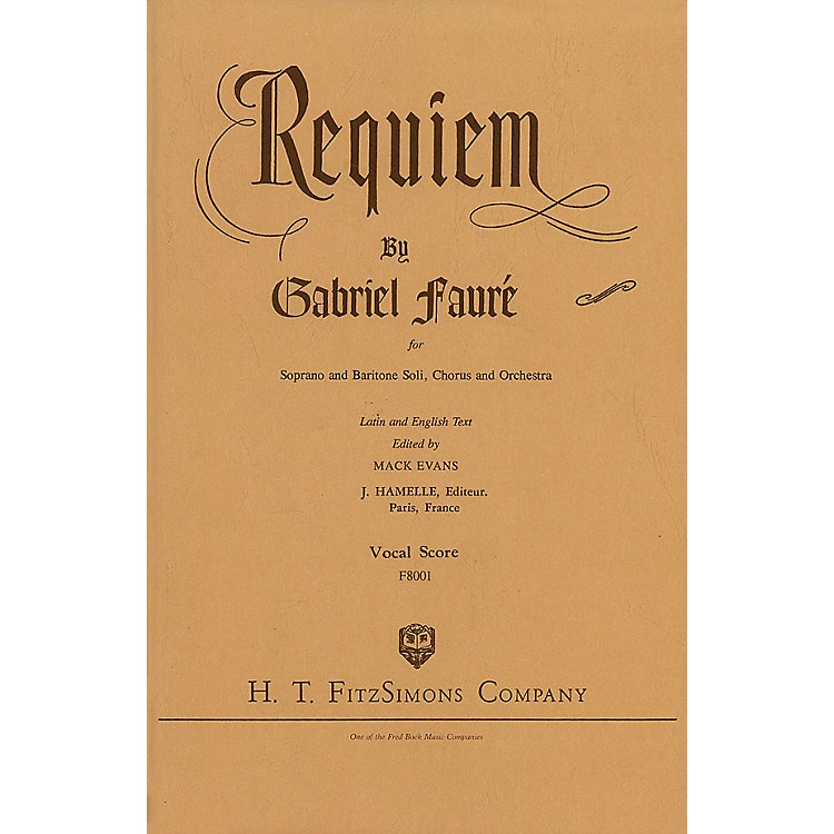 Fred Bock MusicRequiem SATB composed by Gabriel Fauré