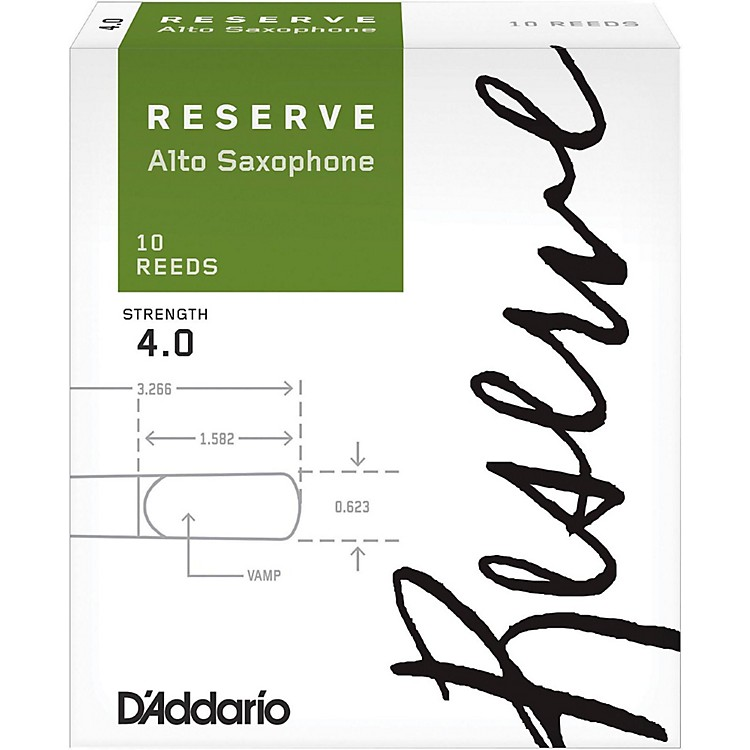 D'Addario WoodwindsReserve Alto Saxophone Reeds 10 PackStrength 4