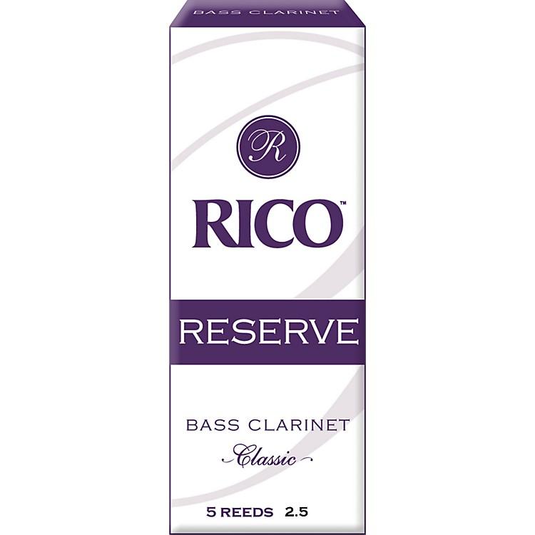 RicoReserve Classic Bass Clarinet ReedsStrength 2.5