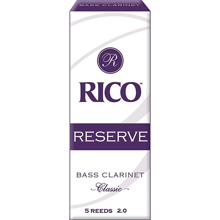 Rico Reserve Classic Bass Clarinet Reeds Strength 2