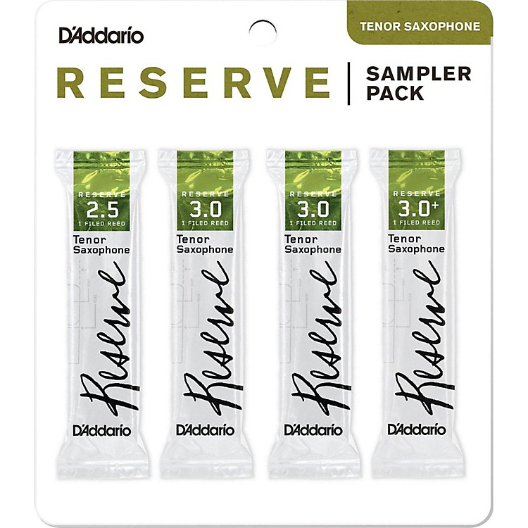 D'Addario WoodwindsReserve Reed Sampler Packs, Tenor Saxophone2.5