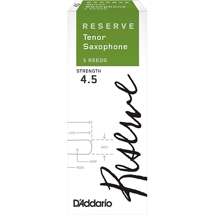D'Addario Woodwinds Reserve Tenor Saxophone Reeds 5-Pack Strength 4.5