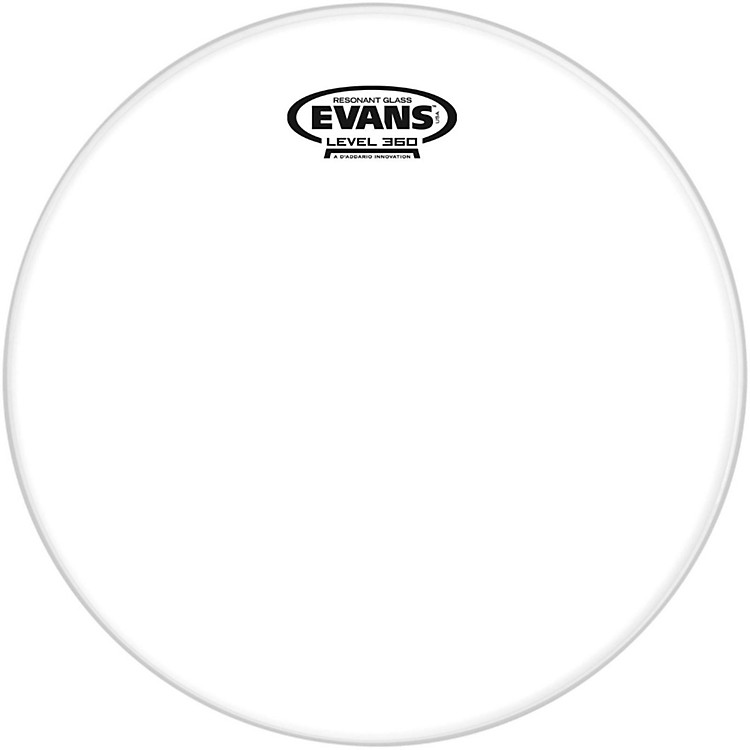 Evans Resonant Glass Tom Heads  13 in.