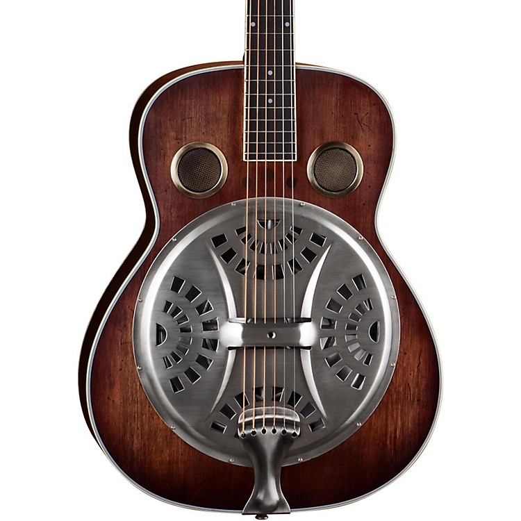 Dean Resonator Spider Acoustic Guitar Antique Distressed Natural Oil