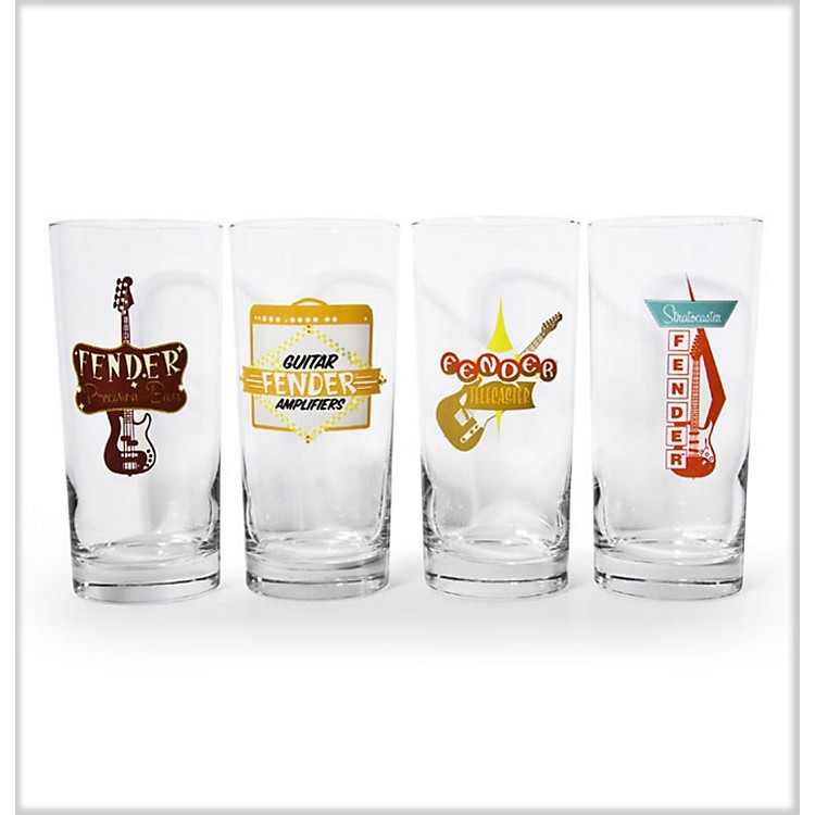 Fender Retro Pub Glasses (Set of 4)