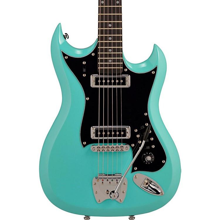 HagstromRetroscape Series H-II Electric GuitarAged Sky Blue