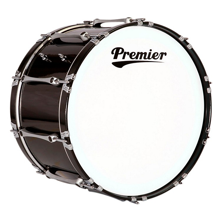 Premier Revolution Bass Drum 30 x 14 in. Ebony Black Lacquer